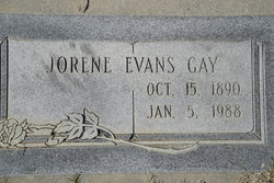 Jorene E. <i>Evans</i> Gay