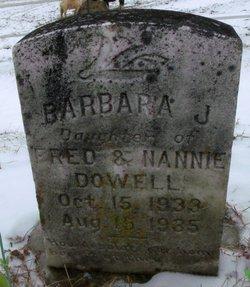 Barbara Janice Dowell
