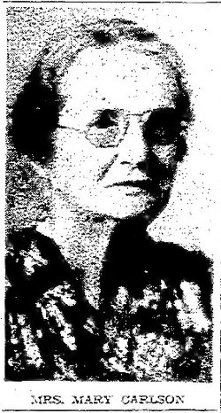Mrs Maria Emma Mary <i>Bergstrom</i> Carlson