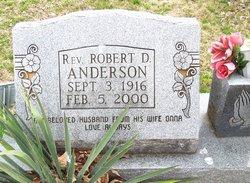 Rev Robert D. Anderson