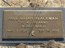 Paul Uriah Blackman