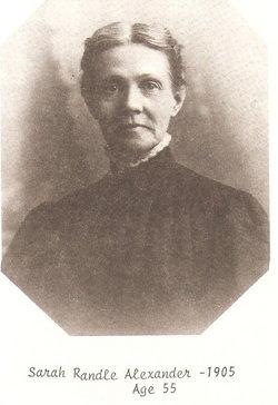 Sarah Emma <i>Randle</i> Alexander