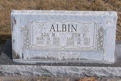 Ada M Albin
