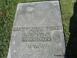 Frances Belle <i>Goodwin</i> Mayes