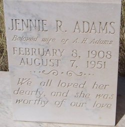 Jennie R Adams