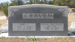 Martha Ann <i>Pusser</i> Craven