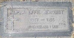 Alpha Effie Berquist
