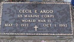 Cecil E Argo