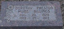 Dorothy Preston <i>Hume</i> Billings