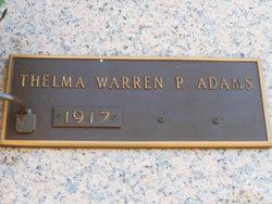 Annie Thelma <i>Warren</i> Adams