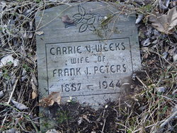 Carrie V. <i>Weeks</i> Peters