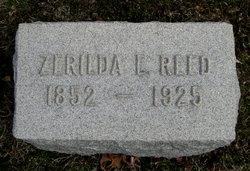 Zerilda L. <i>Elkins</i> Reed