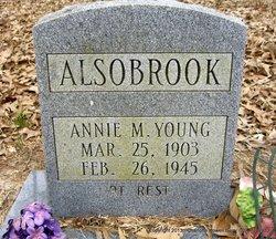 Annie M <i>Young</i> Alsobrook
