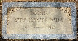 Betsy Brown <i>Johnson</i> Welch