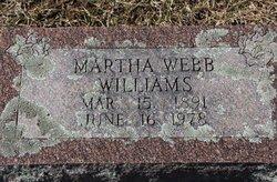 Mrs Mary Martha Martha <i>Webb</i> Williams