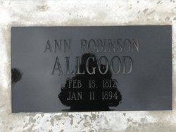Ann <i>Robinson</i> Allgood