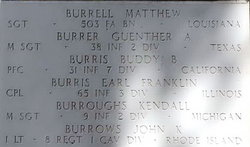 Sgt Guenther August Burrer