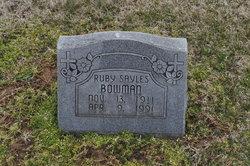 Ruby <i>Sayles</i> Bowman