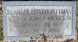 Blanche Estella <i>Pittman</i> Rhodes