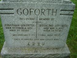 Mrs Rosalind <i>Bell-Smith</i> Goforth