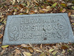 Eliza A. H. <i>Chappell</i> Armstrong