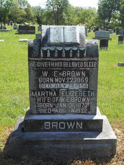Martha Elizabeth Mattie <i>Gooch</i> Brown