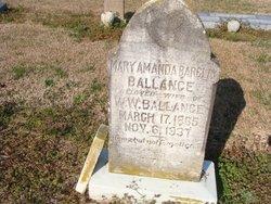Mary Amanda <i>Barclay</i> Ballance