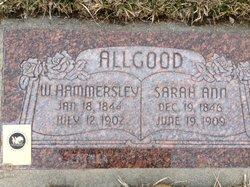Sarah Ann <i>Morley</i> Allgood