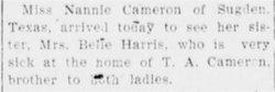 Bell <i>Cameron</i> Harris