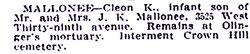 Cleon Keyes Mallonee