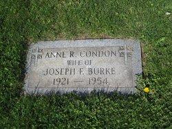 Anne R <i>Condon</i> Burke