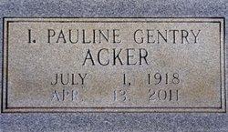 I. Pauline <i>Gentry</i> Acker