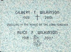 Alice F. <i>Gahman</i> Wilkinson