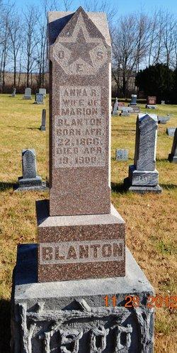 Anna R <i>Moore</i> Blanton