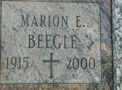 Marion E <i>Butterworth</i> Beegle