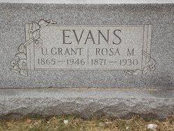 Rosa M. <i>Clantz</i> Evans