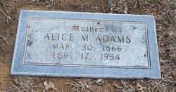 Alice M <i>Moore</i> Adams