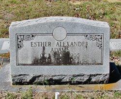 Esther <i>Alexander</i> Adams