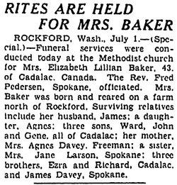 Elizabeth Lillian <i>Davey</i> Baker