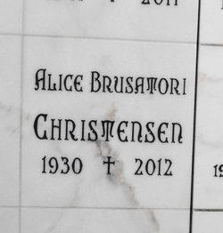 Alice E <i>Brusatori</i> Christensen
