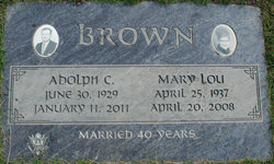 Adolph C Brown