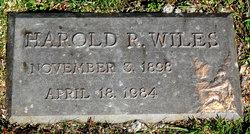 Harold R Wiles