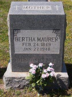 Bertha <i>Reimann</i> Maurer