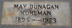 May <i>Dunagan</i> Kohlman