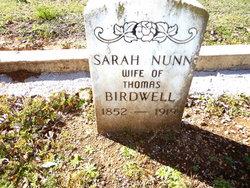 Sarah <i>Nunn</i> Birdwell