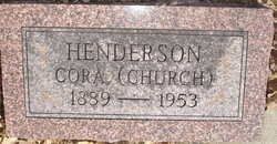 Cora Ethel <i>Williams</i> Church Henderson