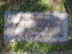Clara Lenora Hudlow