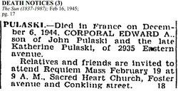 Corp Edward A. Pulaski