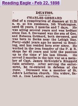 Pvt Charles W Gebhard
