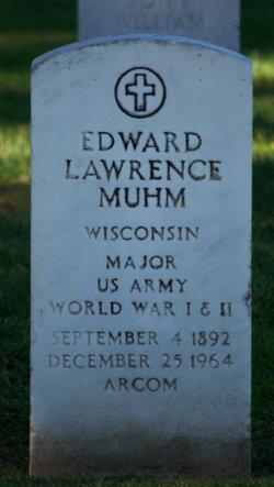 Maj Edward Lawrence Muhm